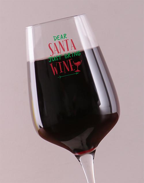 christmas: Personalised Bring Wine Glass!