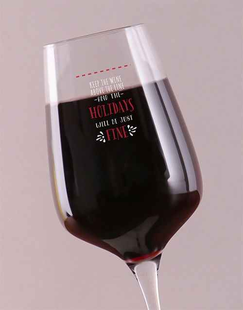 christmas: Personalised Above The Line Wine Glass!