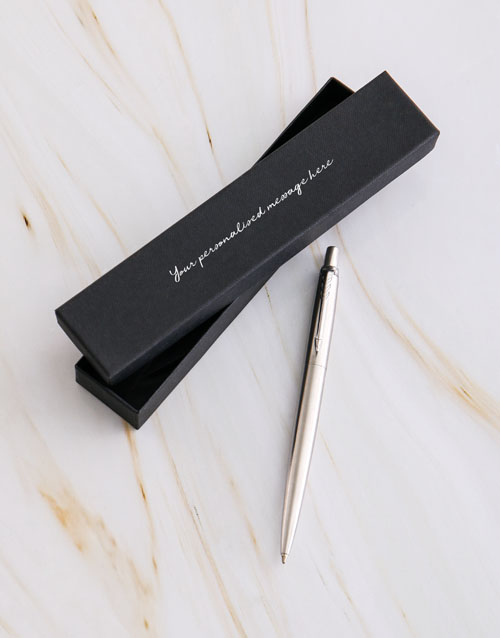 christmas: Personalised Parker Pen Cursive Gift Box!