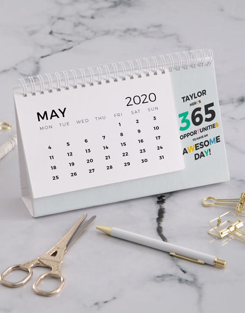 christmas: Personalised 365 Awesome Days Desk Calendar!
