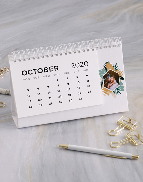 christmas: Personalised Tropical Desk Calendar!