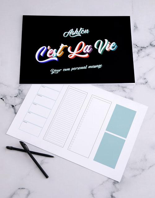 christmas: Personalised Cest La Vie Desk Pad!