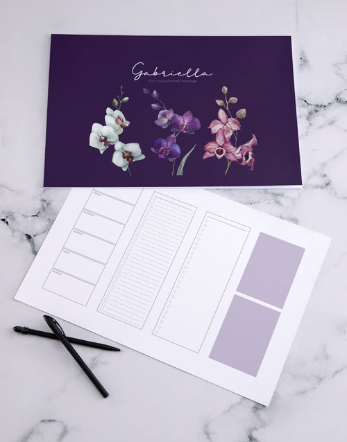 christmas: Personalised Floral Sketch Desk Pad!