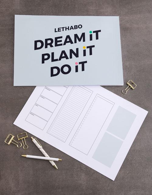 christmas: Personalised Plan It Desk Pad!