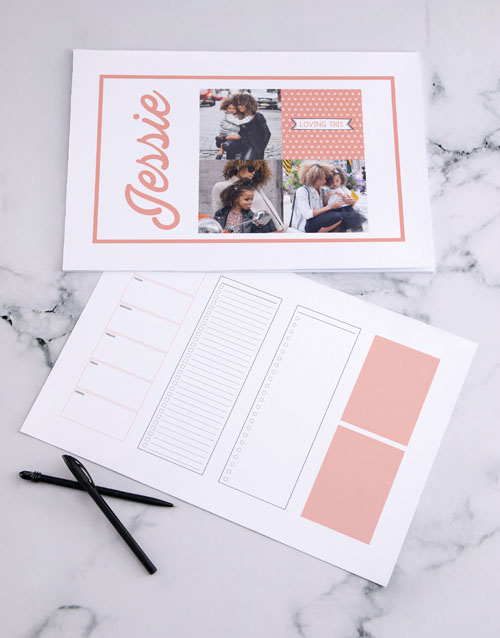 christmas: Personalised Multi Photo Desk Pad!
