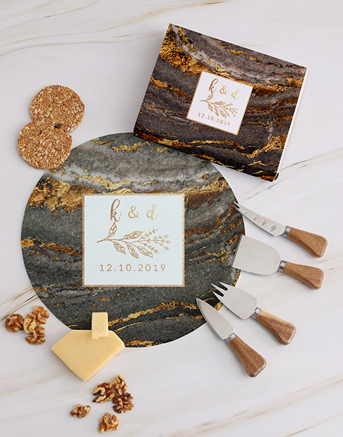 gifts: Personalised Gold Geode Cheese Knives!