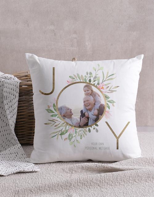 christmas: Personalised Joy Photo Scatter Cushion!