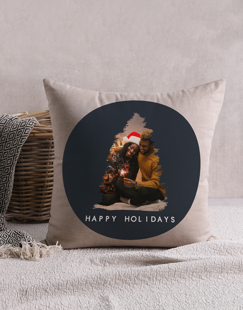christmas: Personalised Christmas Tree Photo Scatter Cushion !