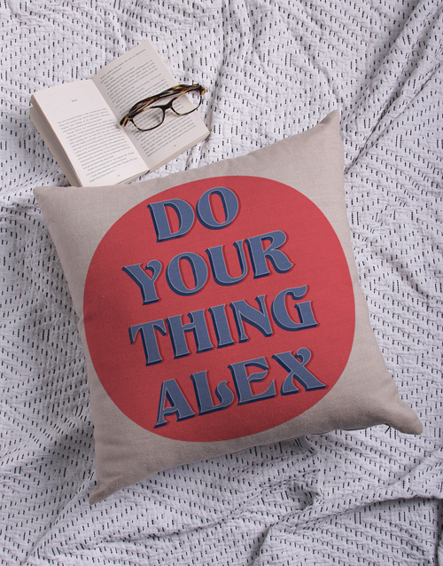 anniversary: Personalised Do Your Thing Scatter Cushion!