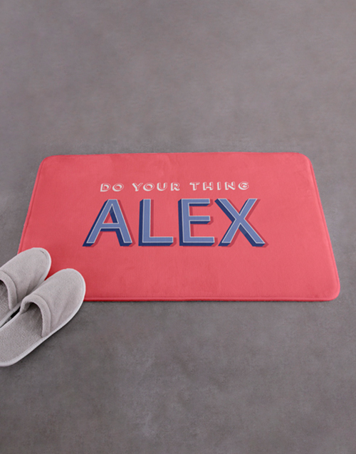 christmas: Personalised Do Your Thing Bath Mat!