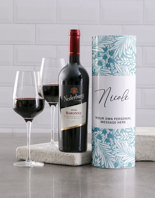 mothers-day: Personalised Tropical Wine Tube!
