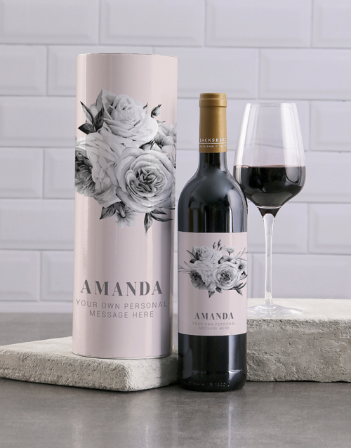 mothers-day: Personalised Elegant Floral Wine And Tube Gift!