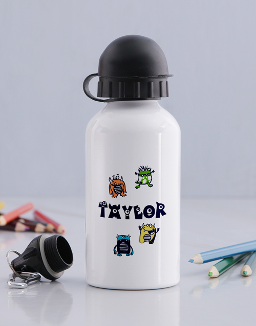 personalised: Personalised Little Monster Bottle!