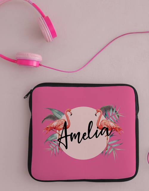 personalised: Personalised Flamingo Tablet Cover !