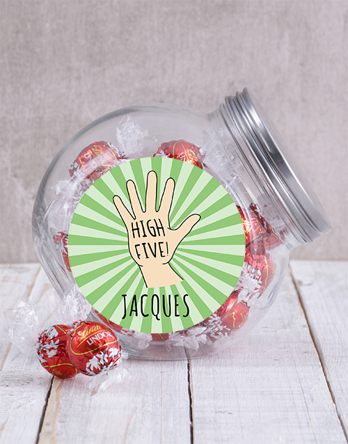 candy-jars: Personalised High Five Candy Jar!