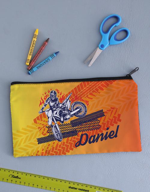 christmas: Personalised Motor Pencil Bag!
