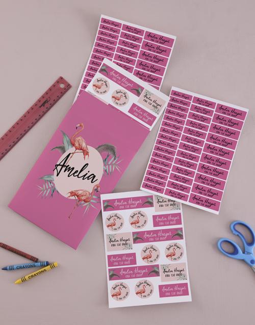 christmas: Personalised Flamingo Labels !