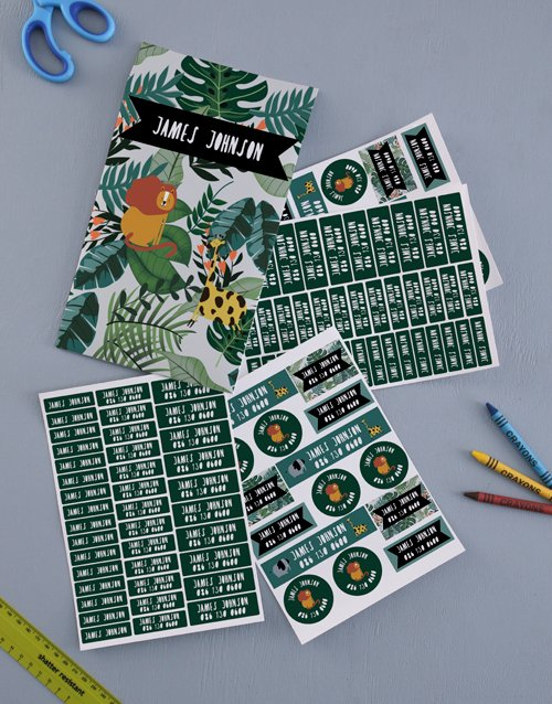 christmas: Personalised Jungle Labels!