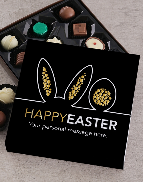 personalised: Personalised Bunny Ears Happy Easter Tray!