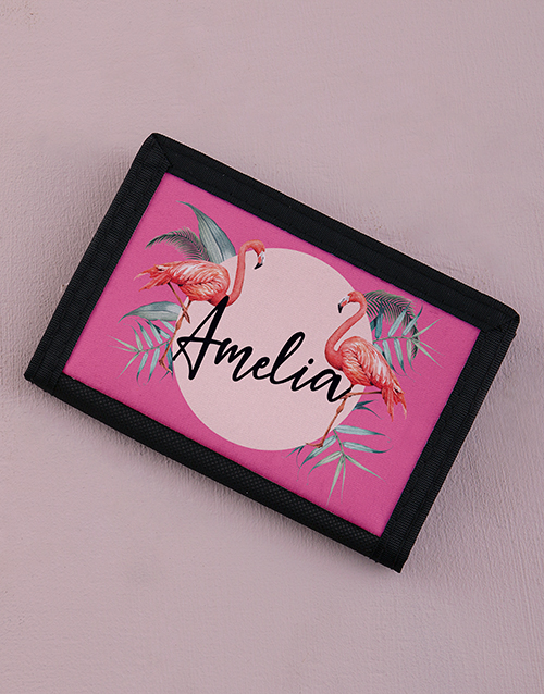 gifts: Personalised Flamingo Wallet!