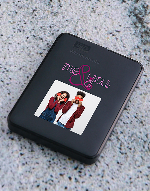 personalised: Personalised Me and You Hard Drive!