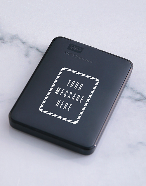 personalised: Personalised Message Hard Drive!