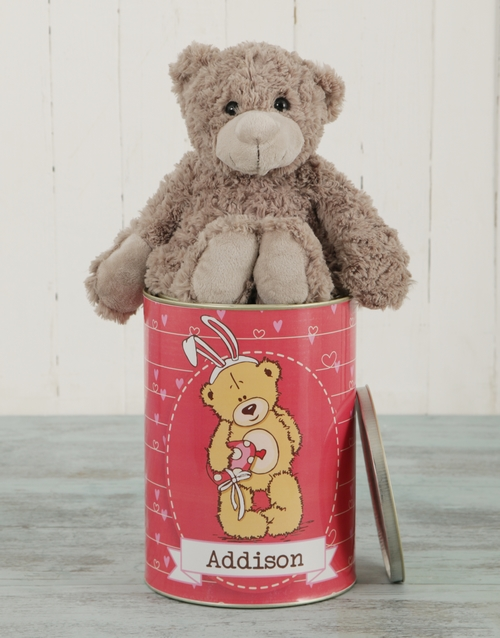 easter: Personalised Easter Teddy Tin!