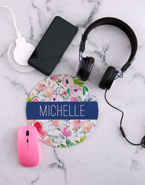 gifts: Personalised Floral Desk Tech Set!