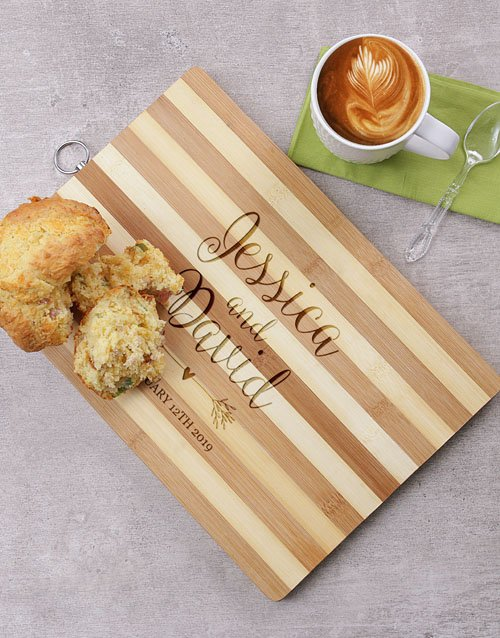 valentines-day: Personalised Couples Wooden Chopping Board!