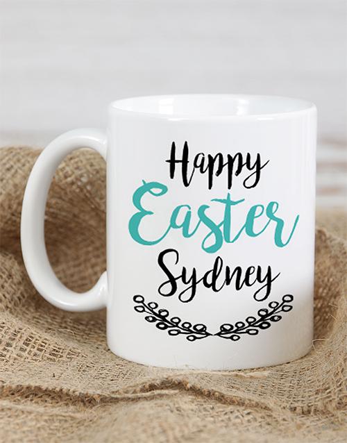 easter: Personalised Cursive Happy Easter Mug!