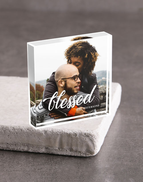anniversary: Personalised Blessed Acrylic Block!