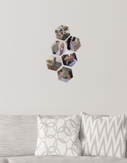 birthday: Personalised Hexagon Multi Photo Blocks!