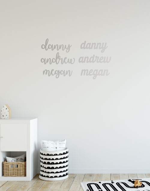 baby: Personalised Three Names Mirror!
