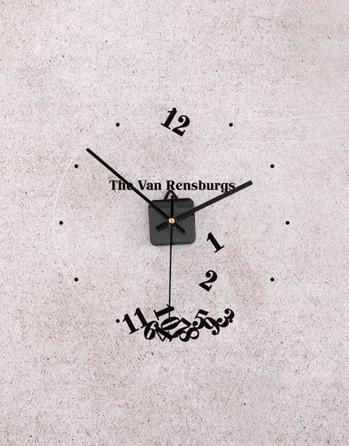 home-decor: Personalised Falling Numbers Perspex Clock!
