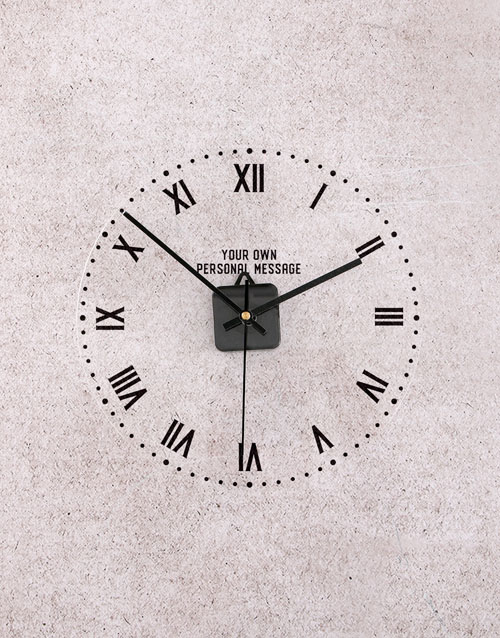 home-decor: Personalised Roman Numerals Perspex Clock!