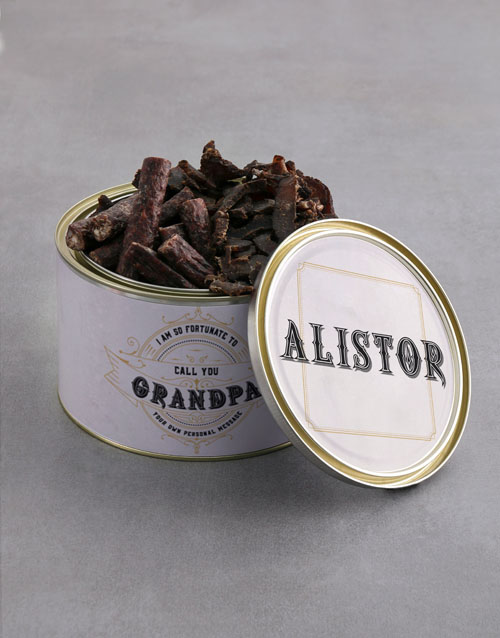gourmet: Personalised Grandparents Day Biltong Tin!