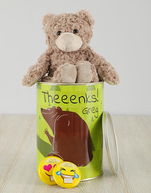 personalised: Personalised Theenks Teddy Tin!