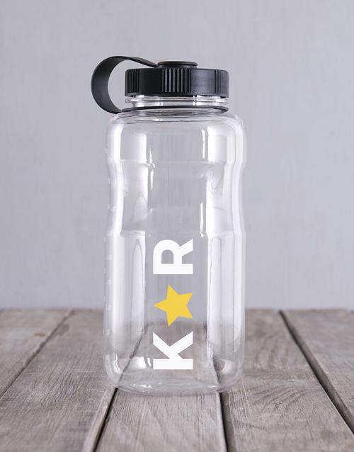 activewear: Personalised Clear Tritan Waterbottle!