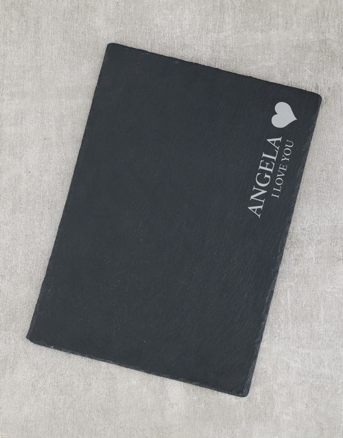 personalised: Personalised I Love You Slate Board!