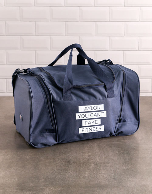 activewear: Personalised Fitness Gym Bag!