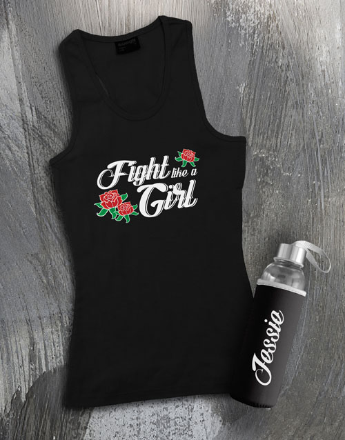 activewear: Personalised Girl Waterbottle And Racerback!