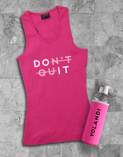 activewear: Personalised Do It Waterbottle And Racerback!