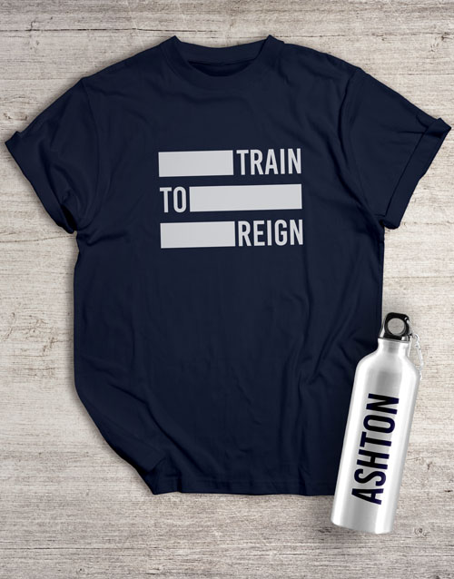 activewear: Personalised Reign Waterbottle And T Shirt!