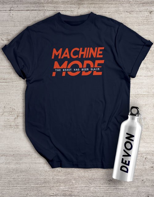 gifts: Personalised Machine Mode Waterbottle And T Shirt!