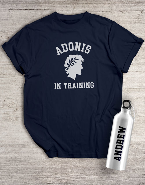 clothing: Personalised Adonis Waterbottle And T Shirt!