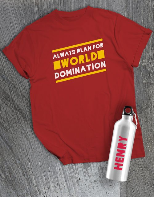personalised: Personalised Domination Waterbottle And T Shirt!