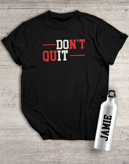 activewear: Personalised Do It Waterbottle And T Shirt!
