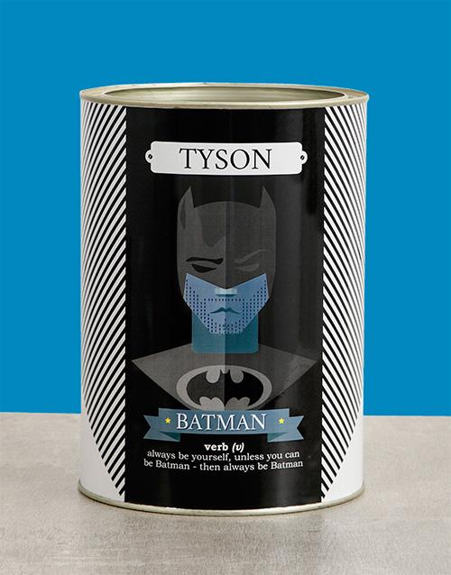 birthday: Personalised Batman Bro Bucket!