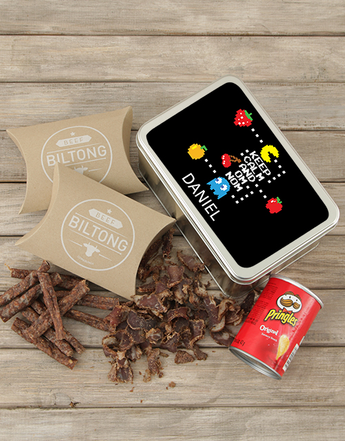 gourmet: Personalised Pacman Snack Tin!