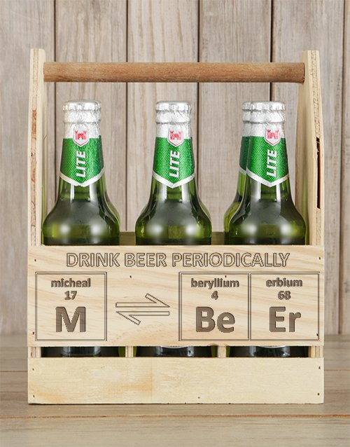 teachers-day: Personalised Periodically Castle Beer Caddy!